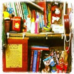 @rycutangco My sister's corner. She doesn't have her own cabinet for her stuff so she invades any free space in the house