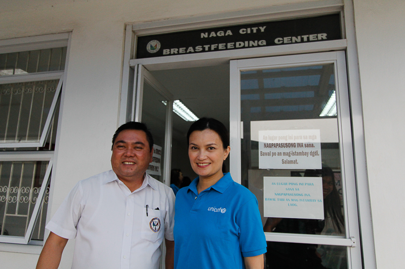 Naga City Mayor John Bongat at the city hall's breastfeeding centre.