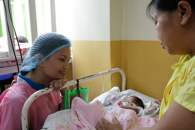 A preemie, newly discharged from the neonatal intensive care unit of Bicol Medical Center. All the babies in NICU are given mothers' breastmilk only.