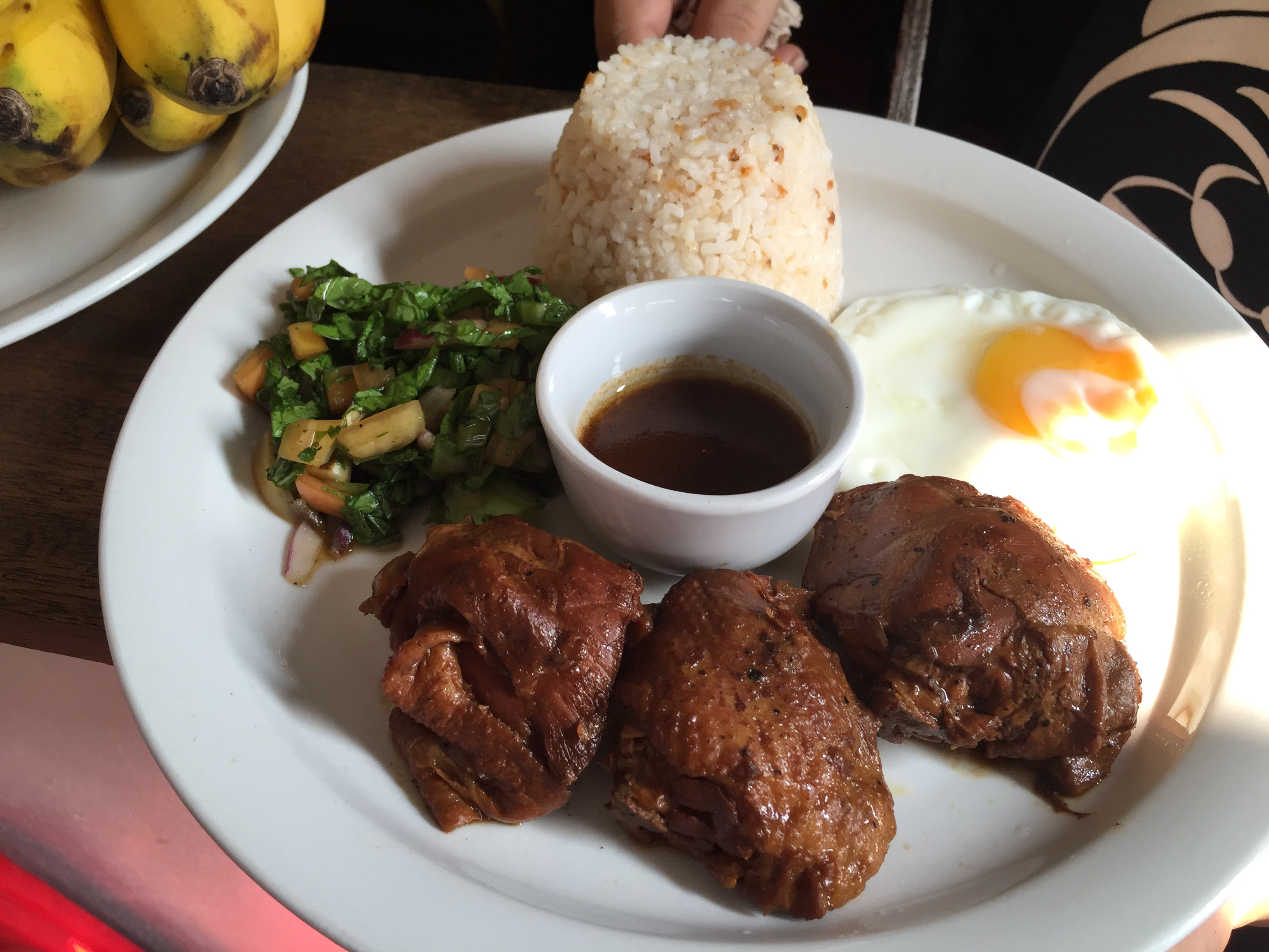 Can't get any more Pinoy than chicken adobo. Here, Goto Monster creates their own dry version.