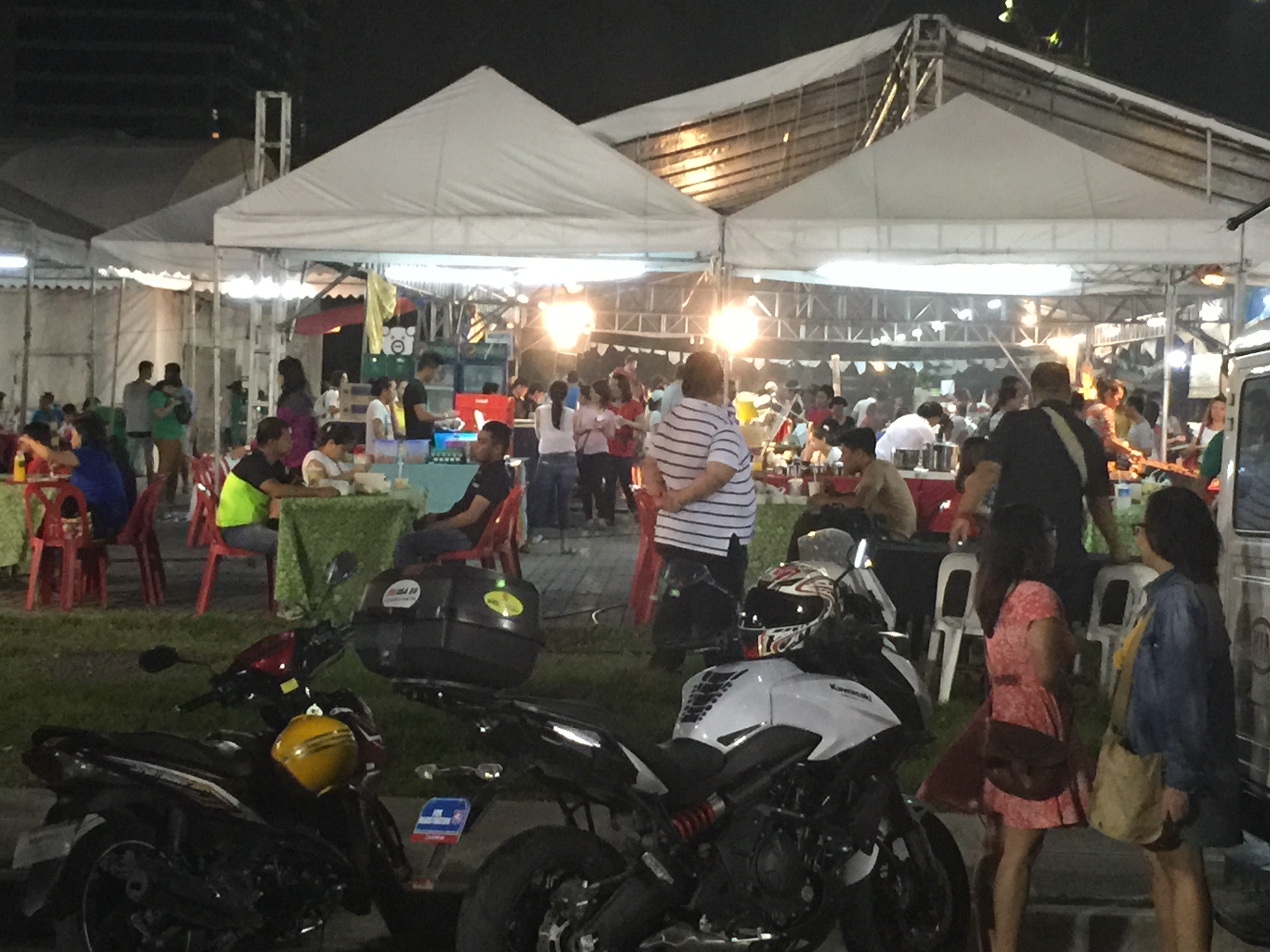In the Philippines, night food markets do really well. It's just a lot more comfortable when the sun is down.